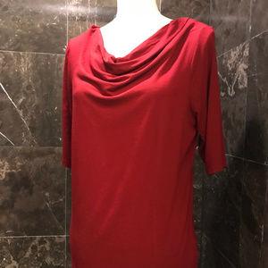 Jones New York - Red Short Sleeve Blouse